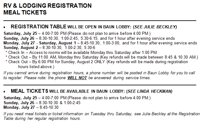 family camp registration