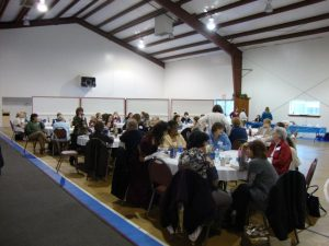 Photo of the Mt Chestnut Nazarene Retreat Center's Multi-Purpose Building Multi Purpose Building hosting a banquet.