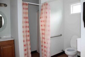 The Chapel restrooms also have shower facilities.