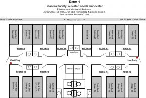 Layout of dorm one.