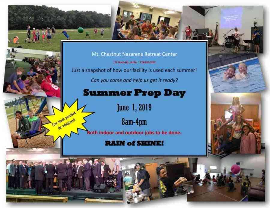 Summer prep day is June 1, 2019.