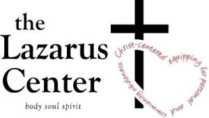 "The Lazarus Center logo, producer of the ""Discovering His Design"" retreat"