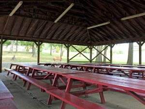 Photo of the Fuller Pavillion picnic shelter at Mt. Chestnut Nazarene Retreat Center.