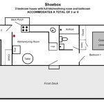 Floor plan layout of the shoebox dorm.